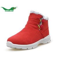 LANTI KAST Winter Women Sneakers Thermal Fur Inside Convenient Slip On Sneakers For Women Plush Non