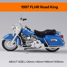 Motorcycle Models 1997 FLHR ROAD KING 1977 FXS LOW RIDER Retro moto 1:18 scale Alloy Heavy motorcycle model motorcycle model