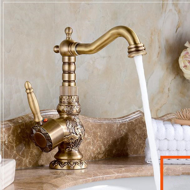Basin Faucets Swivel Vanity Brass Home Decorative Hotel Commerical Bathroom Sink Taps Touch on Single Handle Mixer Faucet 3663F basin faucets modern gold faucet single hole bathroom faucets black bathroom sink mixer taps diamond on handle top wf 18055