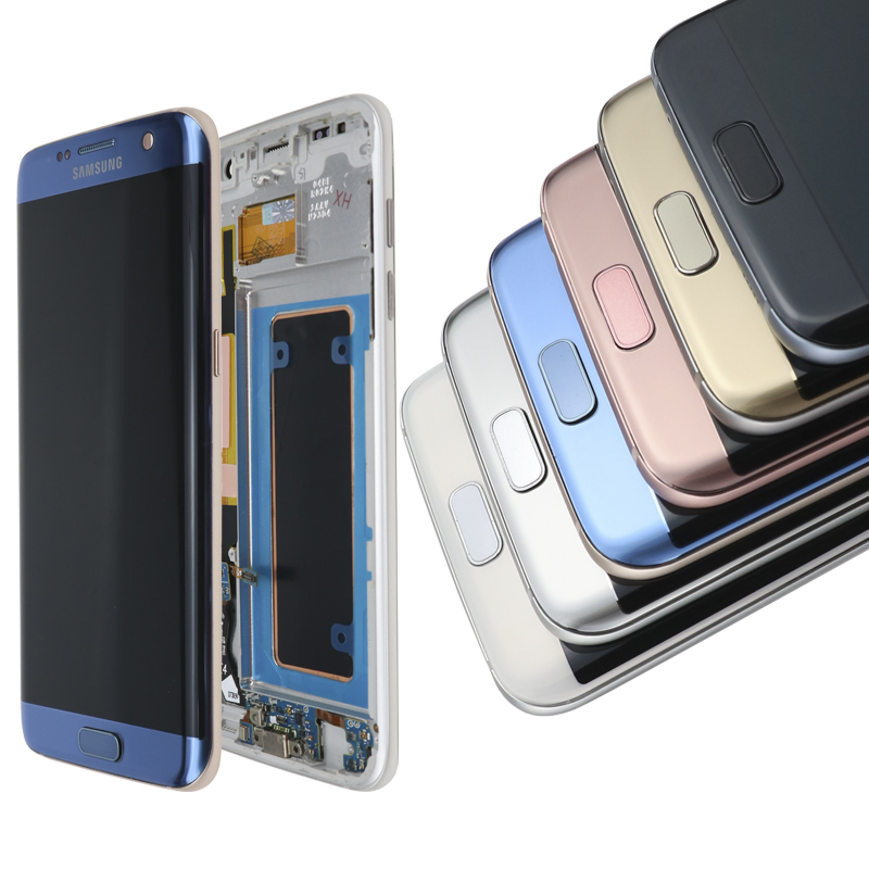 HTB1Dtd9TsfpK1RjSZFOq6y6nFXa3 ORIGINAL 5.5'' SUPER AMOLED display with frame for SAMSUNG Galaxy s7 edge G935 G935F Touch Screen Digitizer Display+Service Pack