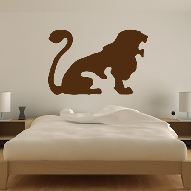 Hot Sale Leo Lion King Wall Sticker Living Room Zodiac Home Decor Vinyl  Removable Wall Decal