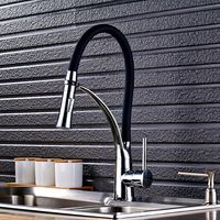 Uythner Classical Style Chrome Base With Black Hose Kitchen Faucet Cold Hot Kitchen Faucet