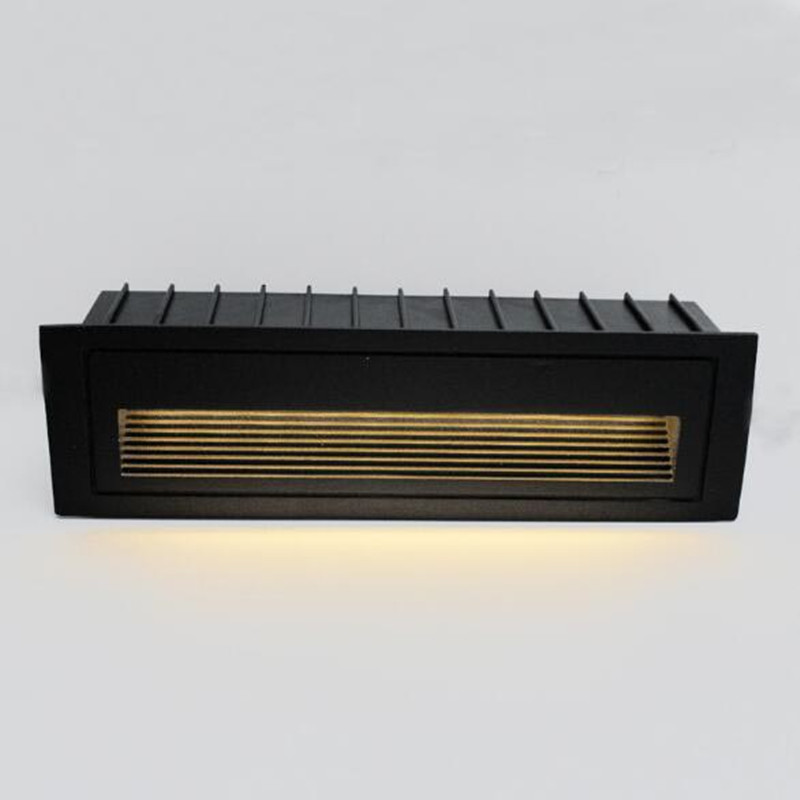 Kenlux Conduziu a luz da escada luzes passo 6W SMD 210*60mm AC85-265V Incorporado escada de Alumínio ao ar livre à prova d' água interior lâmpada de parede
