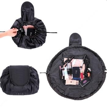 Lazy Quick Packing Makeup Bag Portable Travel Drawstring Bulk Storage Cosmetics Bags 16 Color Professional Toiletry Wash Kit makeup bag