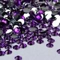 1000 pcs 2mm-6mm Tamanho Misto encantador bonito Escuro roxo 14 facet rodada diamante espumante acrílico nail art decoração N15