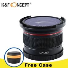 K & F CONCEPT 0.35x52mm Fisheye Objectif Grand Angle Macro Super HD panoramique Fish Eye Objectif pour Canon 7D Numérique DSLR Appareil Photo Caméscope
