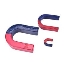 1 шт. u-образный магнит 3*3 см мини-магнит Подкова Красный Синий окрашенный полюс физический эксперимент Обучающие принадлежности