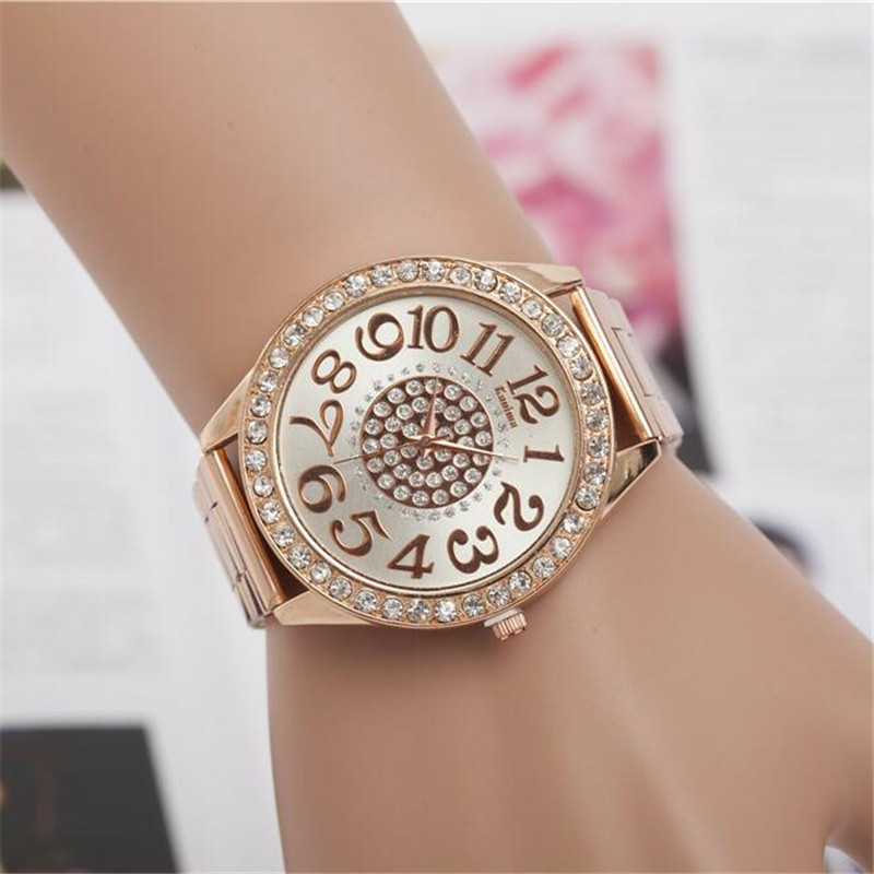 Fashion Lovers crystal Quartz Women Watches Men WristWatches Top Brand Luxury Female Clock full Steel Watch Male Montre Femme longbo top brand luxury lovers watch fashion full steel quartz watch men women waterproof auto date watches unisex hour montre
