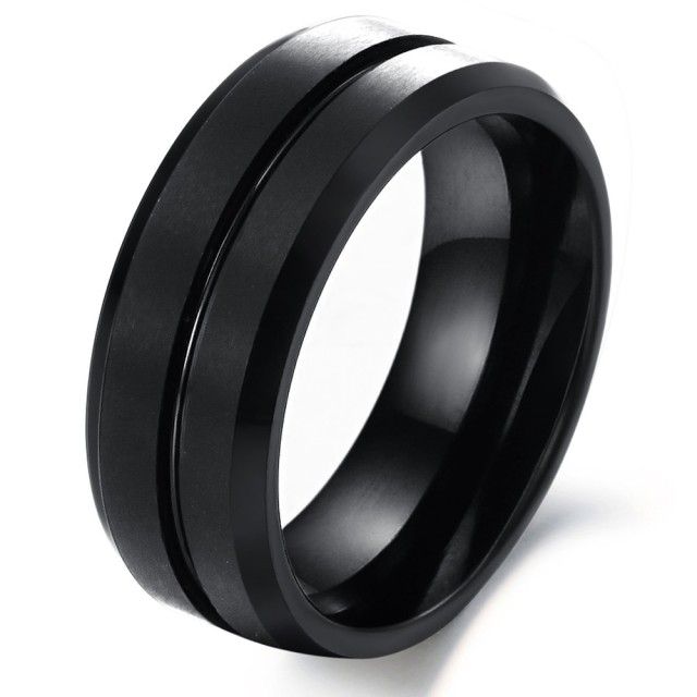Black Tungsten Ring Vintage Jewelry Men Tungsten Wedding Ring Fashion  Jewelry Big Rings WJ227