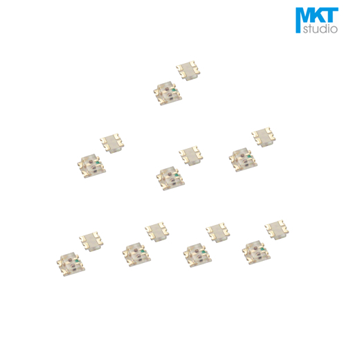 100Pcs Free Shipping Sample SMD 0603*2 Double Bi-Color LED Light Emitting Diode Beads Red&Blue, Red&Green