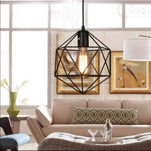 Vintage retro pendant lamp metal  cage lampshade lighting hanging light fixture