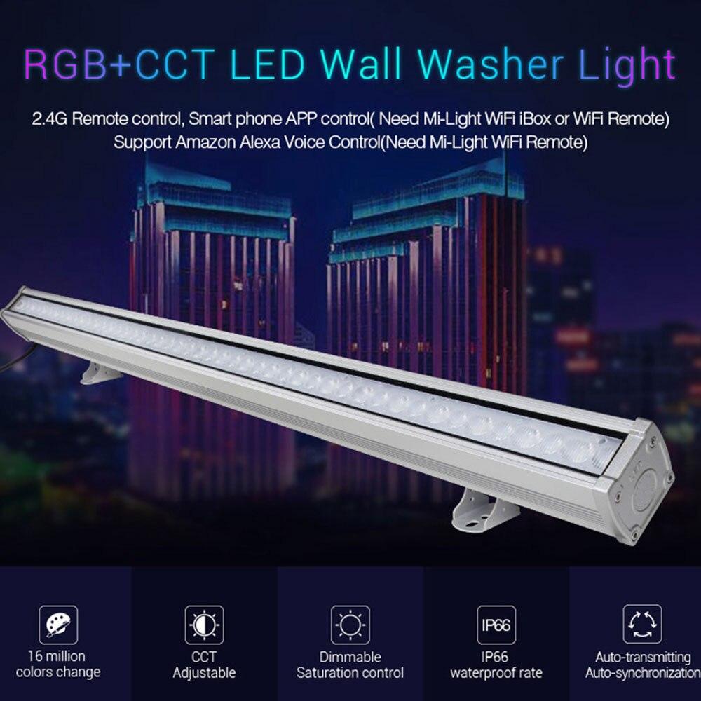 Mi. lumière RL1-24 AC110-240V 24 W RGB + CCT mur LED lumière étanche IP66 lumière extérieure, Dimmable RGB CCT lampe subordonnée