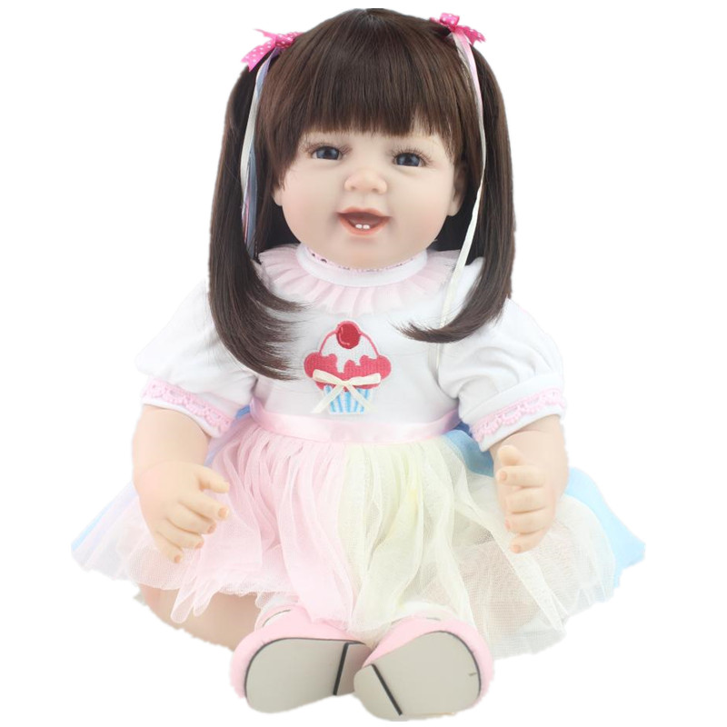 22 Inch Handmade Real Baby Doll Silicone Reborn Baby Dolls Reborn Realistic Baby Doll Toy Lifesize Doll Baby Alive Juguetes