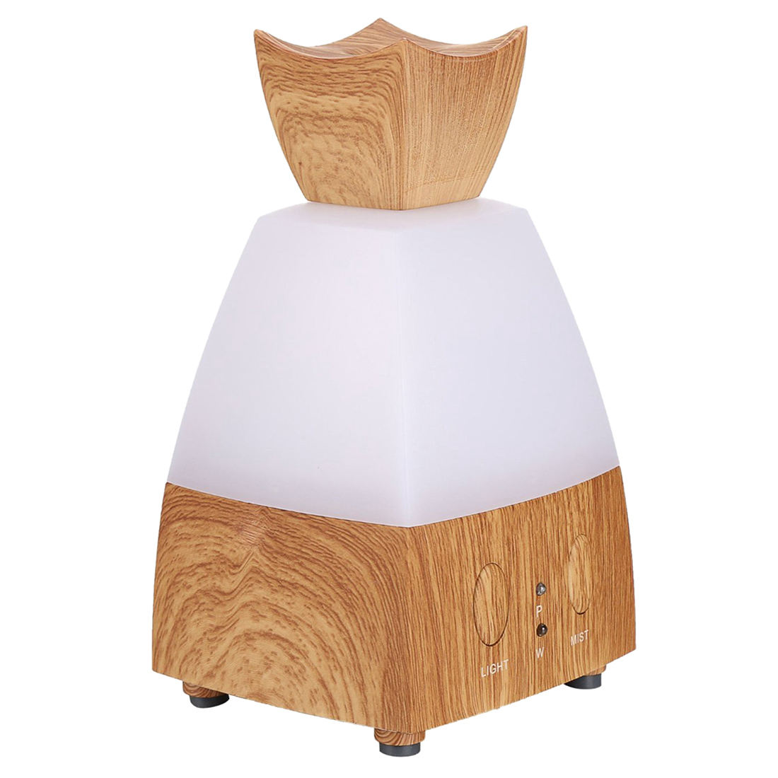 Aromatherapy Essential Oil Diffuser - Portable USB Ultrasonic Aroma Humidifier (Square-100ml Light-wood-color) hot sale humidifier aromatherapy essential oil 100 240v 100ml water capacity 20 30 square meters ultrasonic 12w 13 13 9 5cm