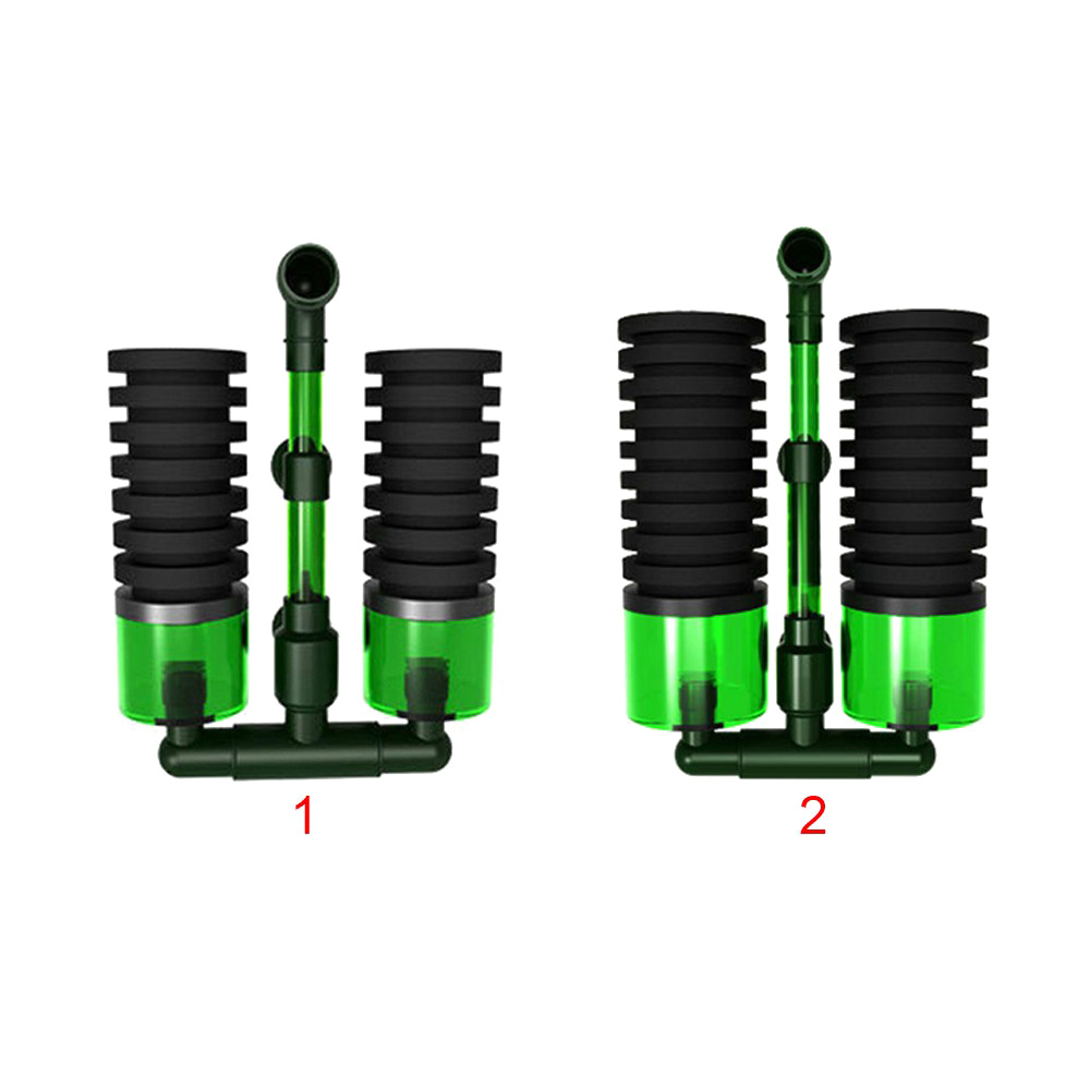 Биохимический Губчатый Фильтр двойная головка QS-200A QS-100A Биохимический хлопок биохимическая губка впитывает фильтр материал коробка фильтр