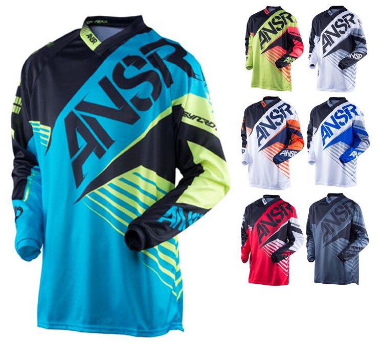 Prix pour Hommes style off road Racing maillots de motocross T-shirt Descente dirt bike sueur Moto maillots habillements