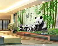 Custom Advanced Wallpaper 3D Panda National Treasure Bamboo Forest Pebble TV Background Wall Papel De Parede