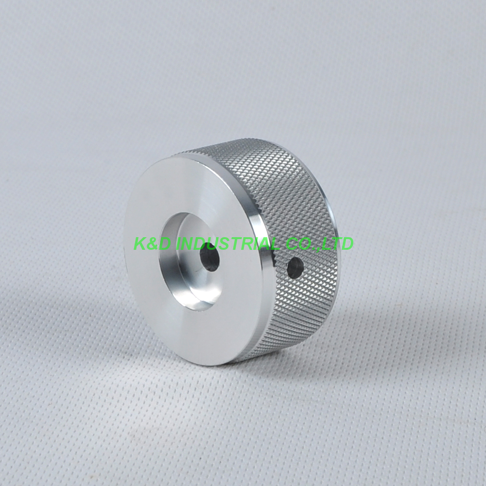 1pc 44x22mm Sliver Aluminum Vintage Control Knurled knob for Guitar Amplifier Parts in Electrical Plug from Consumer Electronics