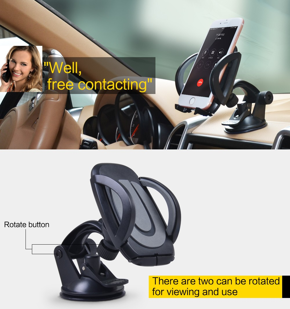 Cobao 360 תואר סיבוב חצובה אוניברסלית כוס יניקה טלפון נייד שולחן העבודה מחזיק רכב עומד על טלפון חכם