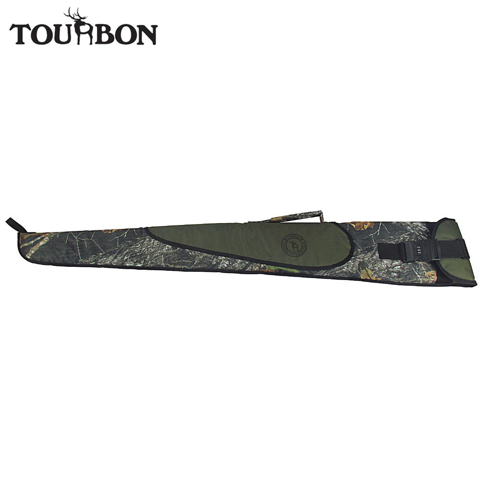 Tourbon Tactical Airsoft Hunting Shotgun Case Bag Camo Gun Carrying Slip with Password Lock Swivels Shooting Accessories 2016 tourbon design tactical handgun magazine carry bag canvas with pu pistol case zippered black pouch wholesale