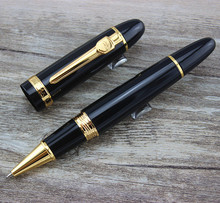 Jinhao 159 roller ball pen Black Lacquer Gold Trim Big Heavy(China)