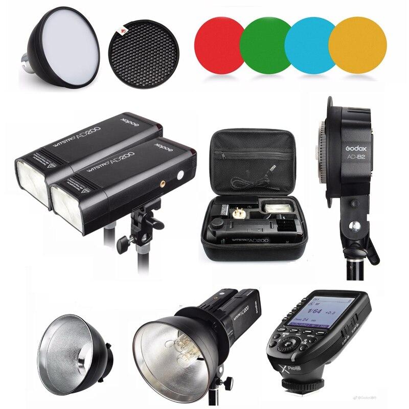 Godox AD200 400 Вт стробоскопическая вспышка Speedlite для камеры Canon Sony Nikon Fujifilm с беспроводным триггером Xpro N W/отражателем w/держателем|Фотовспышки|   | АлиЭкспресс