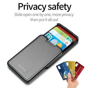 Image 4 - Card Holder Metal Sliding Wallet Card Case Wallet For Men Women Male Female