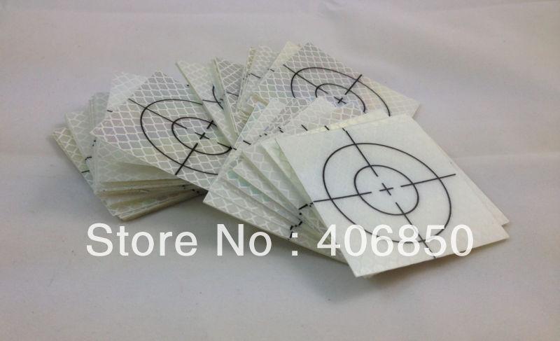 20 Pcs Reflector Sheet 50 x 50mm Reflective Tape Target