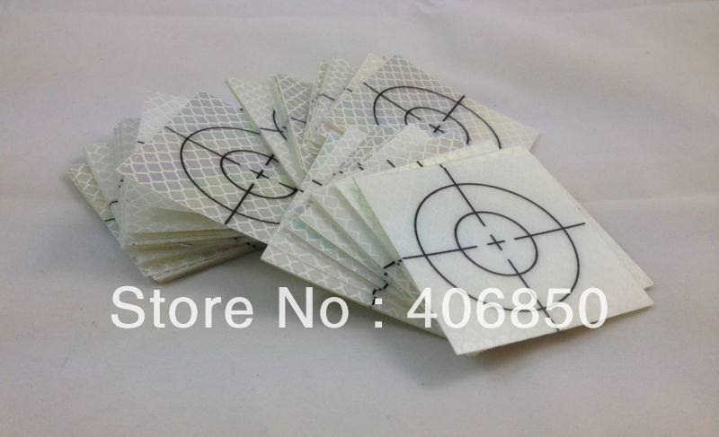 Survey Total Station 20pcs Silver Reflective Retro Target Sticker 40mm