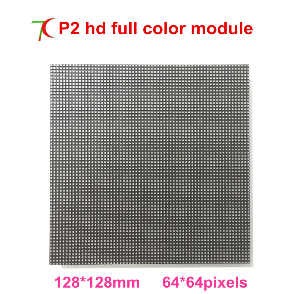 P2 Indoor Hd Full Color Module For Led Tv Wall ,128mm*128mm,32scan,250000dots/sqm