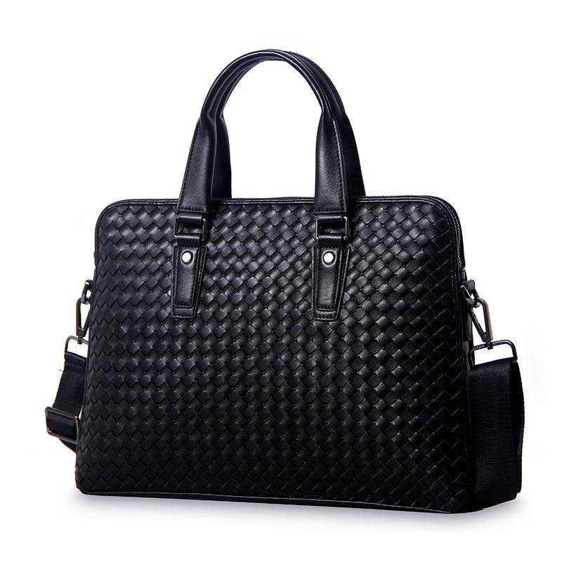 2018 neue Luxus 100% Kuh Echtes Leder Geschäftsleute Aktentasche Männlich Umhängetasche männer Umhängetasche Tote Computer handtasche-in Aktentaschen aus Gepäck & Taschen bei  Gruppe 1