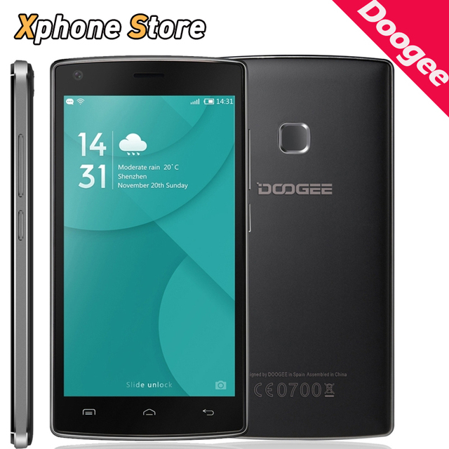 Original DOOGEE X5 MAX 3G WCDMA Smartphone Android 6.0 8GB ROM 1GB RAM 5.0 inch MTK6580 Quad Core 1.3GHz Dual SIM OTA Cellphone