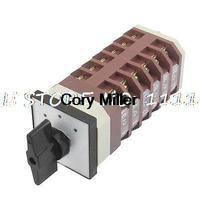 Electric 24 Terminals 3 Postions Rotary Cam Combination Switch AC 380V 220V