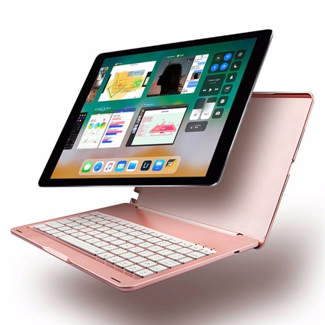 10.5 Inch 2 In 1 Aluminum Wireless Bluetooth Keyboard with Colorful for iPad Pro