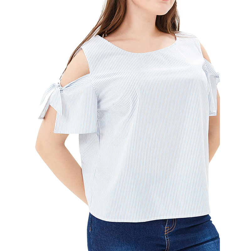 Blouses & Shirts MODIS M181W00985 women blouse shirt  clothes apparel for female TmallFS t shirts befree shirt for female cotton short sleeve women clothes apparel 1811579424 50 tmallfs