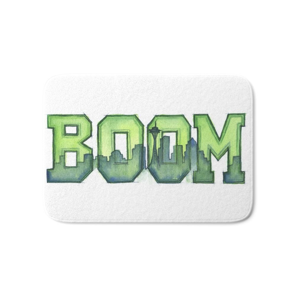 Legion Of Boom Seattle 12th Man Art Bath Mat Carpets Living Room Dust Proof Door Mats Home Decor image