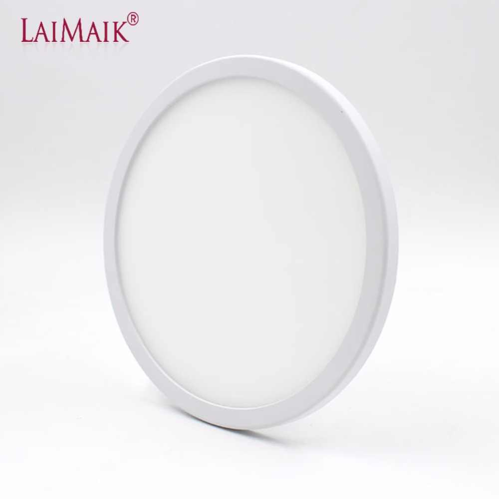 LAIMAIK LED Panel Light AC220V 6W 8W 15W 20W Round LED Panel Light Recessed LED Ceiling Light Spot Downlight Dith Led Driver