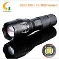 5-Mode LED Antorcha XM-L T6 3800 Lúmenes Linterna LED E17 Zoomable Impermeable de la Linterna por 1*18650 o 3 * un
