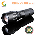 5-Mode LED Torch XM-L T6 3800 Lumens LED Flashlight  E17 Zoomable Waterproof Flashlight by 1*18650 or 3*A
