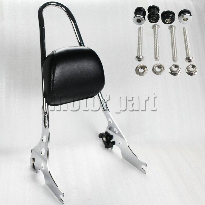Сисси баров багажник Съемный вертикальный коврик пассажирского сиденья для Harley Спортстер 883 1200 XL в XL883C XL1200R XLH883 хром