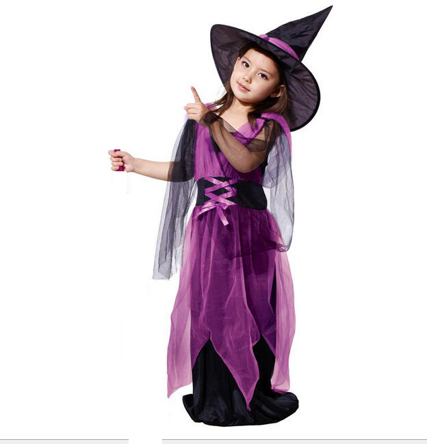 tprpco witch costume kids halloween costumes children suit gauze female witch clothes n128 in girls costumes from novelty special use on aliexpresscom - Witch Pictures For Kids