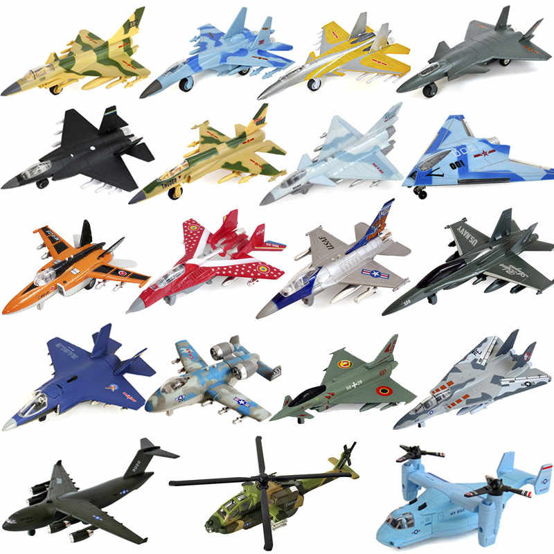 Aircraft combined metal model children's toy simulation fighter aircraft bomber helicopter Boy Gift cutting dies fidget spinner