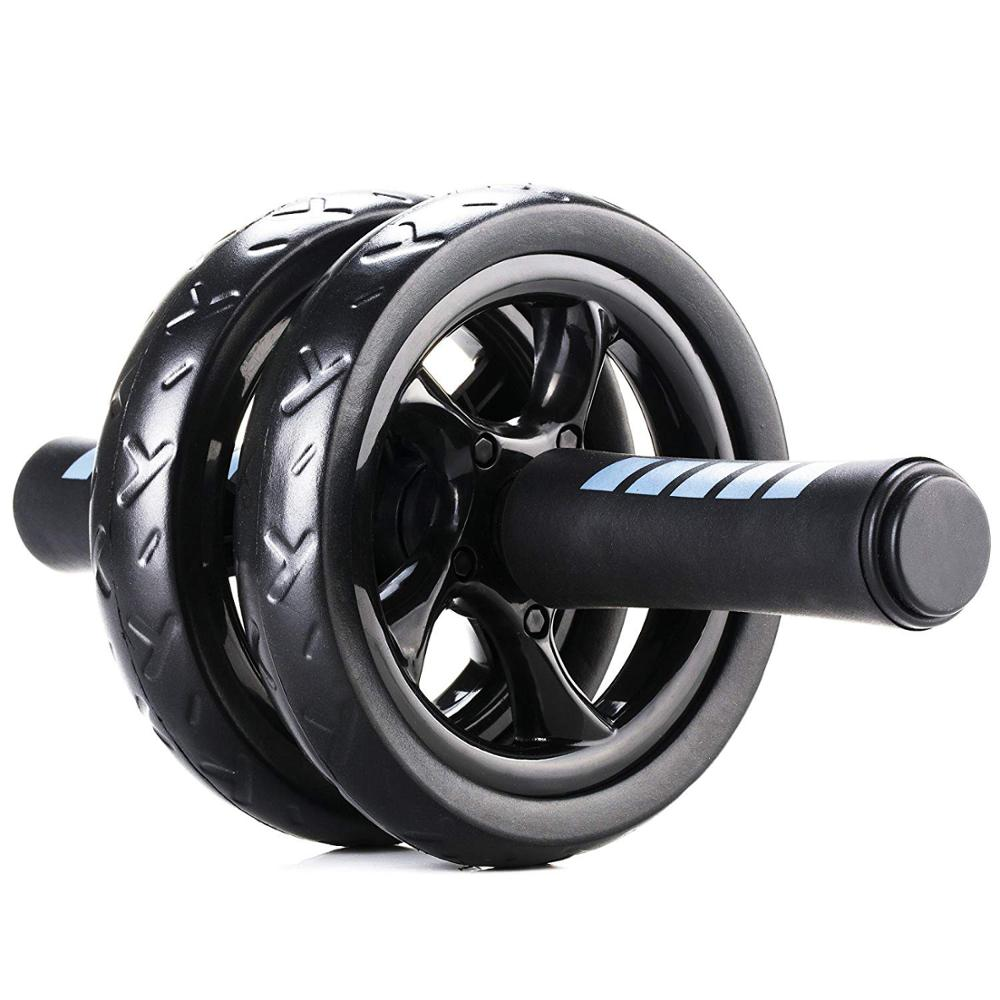 Abdominal Ab Wheel Roller With Mat No Noise Muscle Double-wheeled Abdominal Roller Workouts Abdominal Fitness Exercise Equipment