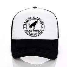New Zombie Outbreak Response Team K9 Unit Canine Dog Zombies baseball cap summer mesh trucker hat outbreak
