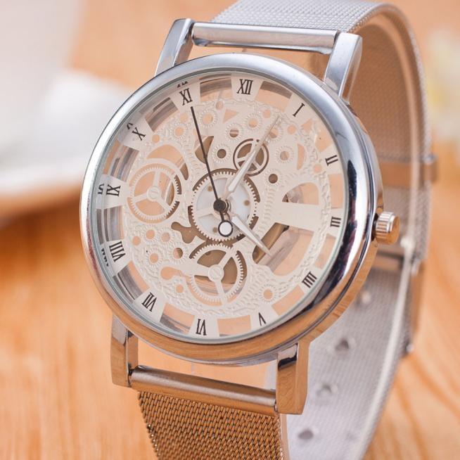 f6ccf23a95c Assistir Mulheres Lazer Neutro Tempo Falso Fita de Aço Analógico Unisex  Relógio De Quartzo-relógio Simples Dial Relogio feminino 161212