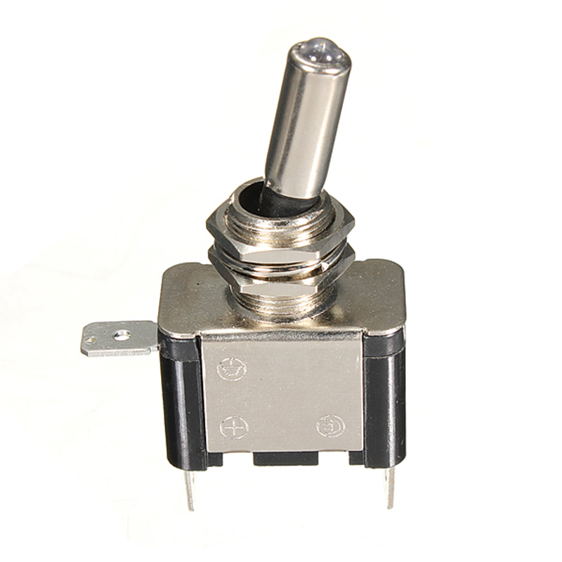 10pcs 12V 20A Car Boat Truck LED Lighted Toggle Switch Rocker ON/OFF SPST,4 COLOR 5 x on off small toggle switch miniature spst 6mm ac250v 3a 120v 5a