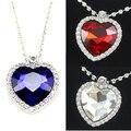 Titanic coração do oceano colar de cristal-prata pingente banhado colares & pingentes colares para as mulheres topshop presente nke-h25