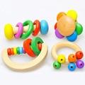 Brinquedos Do Bebê Chocalhos Sino de Mão de Madeira das Crianças engraçadas Crianças Instrumentos Musicais de Brinquedo Do Bebê Brinquedos Educativos Puzzle Brinquedo