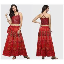 2019 New Yfashion Women Summer Retro Long Skirt Multicolor Printing Loose Bohemian Casual Beach