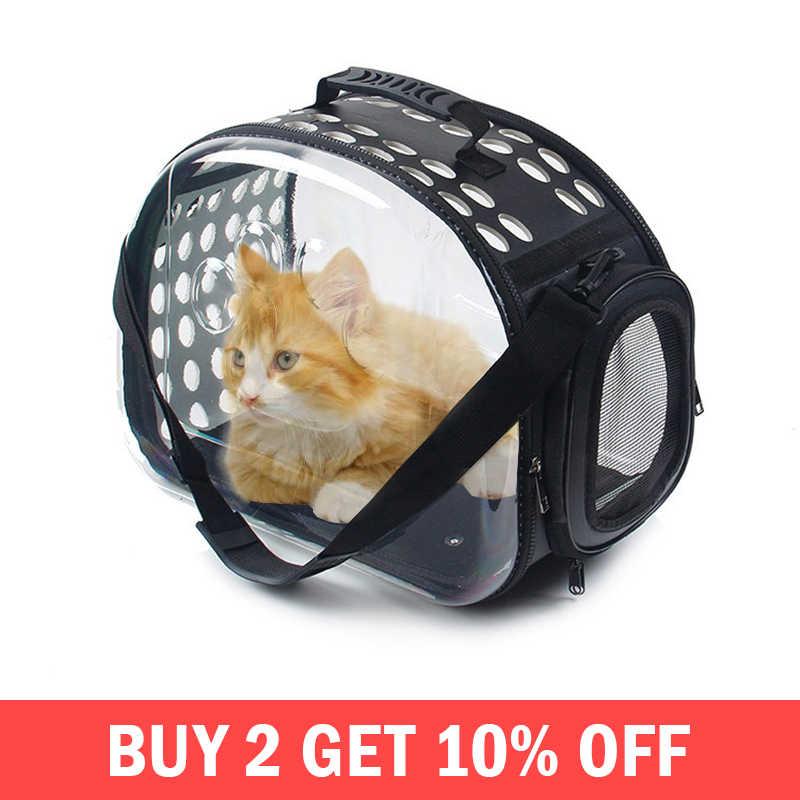 Прозрачный ЭВА-пластик складной Cat Pack Pet рюкзак Универсальный Путешествия переноски сумки дышащая собака Box домашних животных поставки интимные аксессуары